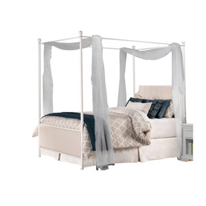 McArthur Off-White Full Canopy Bed with Frame