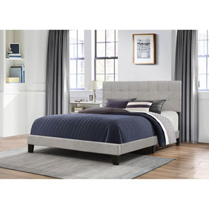 Delaney Queen Bed in One - Glacier Gray Fabric