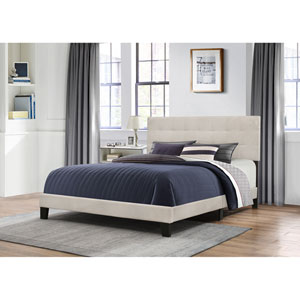 Delaney Queen Bed in One - Fog Fabric