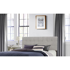 Delaney King Headboard without Frame - Glacier Gray Fabric