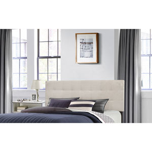 Delaney Full/Queen Headboard with Frame - Fog Fabric