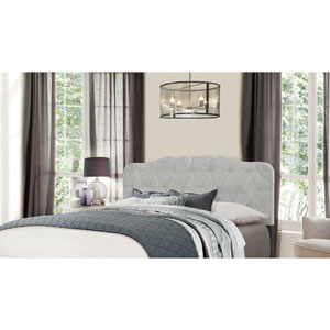Nicole Full/Queen Headboard with Frame - Glacier Gray Fabric
