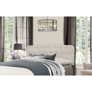 Nicole King Headboard with Frame - Fog Fabric
