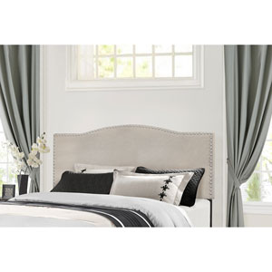 Kiley King Headboard with Frame - Fog Fabric