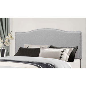 Kiley King Headboard with Frame - Glacier Gray Fabric