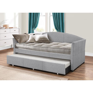 Westchester Daybed with Trundle - Smoke Gray Fabric