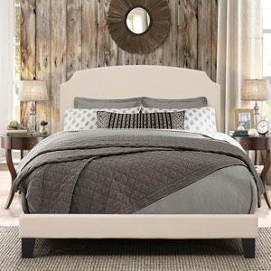 Desi Queen Bed in One - Linen Fabric