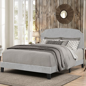 Desi King Bed in One - Glacier Gray Fabric