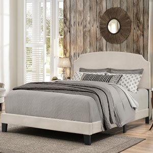 Desi King Bed in One - Fog Fabric