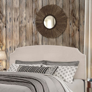 Desi King Headboard with Frame - Fog Fabric