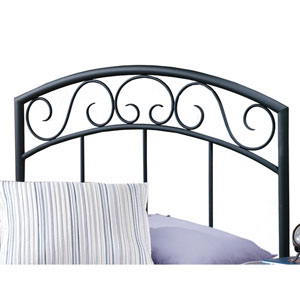 Wendell Textured Black Twin Headboard Only