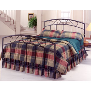 Wendell Textured Black Full Complete Bed