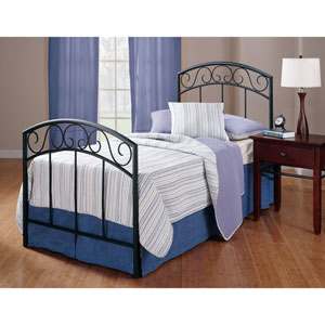 Wendell Textured Black Twin Complete Bed