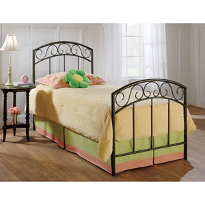 Wendell Copper Pebble Twin Complete Bed