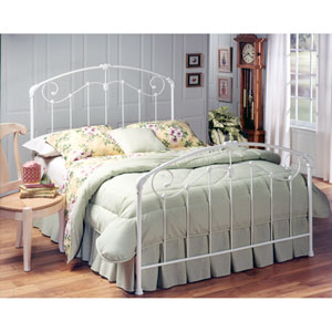 Maddie Glossy White Queen Complete Bed