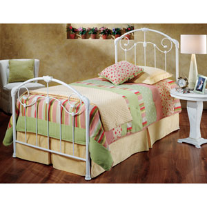 Maddie Glossy White Twin Complete Bed