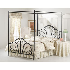 Dover Textured Black Queen Complete Bed