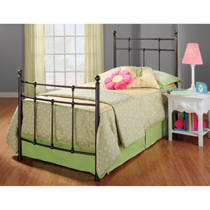 Providence Antique Bronze Twin Complete Bed