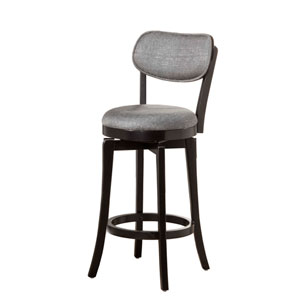 Sloan Black Swivel Counter Stool