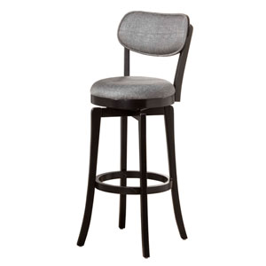 Sloan Black Swivel Bar Stool