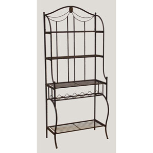 Camelot Black Gold Baker Rack