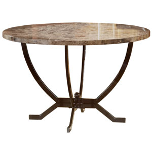 Monaco Matte Espresso Round Dining Table
