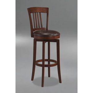 Plainview Brown Canton Wood Swivel Counter Stool