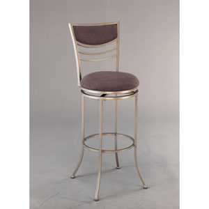 Amherst Champagne Metal Swivel Counter Stool