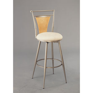 London Champagne Swivel Counter Stool
