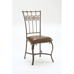 Lakeview Brown Dining Chair with Slate Back, Set of Two