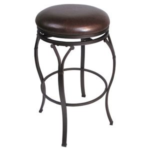 Lakeview Brown Backless Swivel Counter Stool