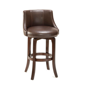 Napa Valley Dark Brown Cherry Swivel Counter Stool
