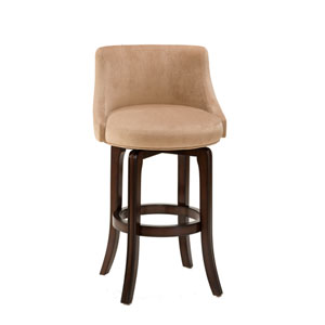 Napa Valley Khaki Cherry Swivel Counter Stool
