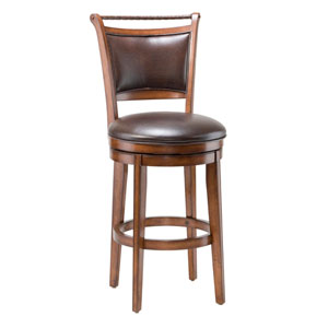 Calais Medium Brown Cherry Swivel Bar Stool