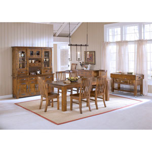 Outback 7-Piece Chestnut Dining Set