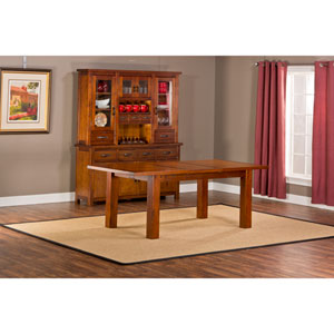 Outback Chestnut Dining Table with Leaf