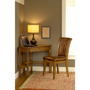 Solano Medium Oak Corner Desk Table with Chair
