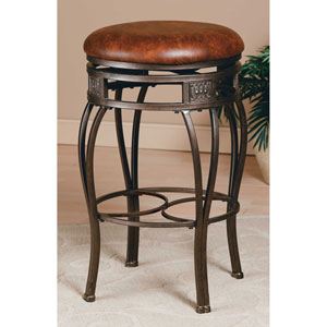 Montello Old Steel Backless Swivel Counter Stool