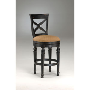 Northern Heights Black/Honey Wood Swivel Counter Stool