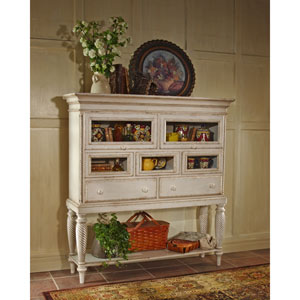 Wilshire Antique White Sideboard Cabinet