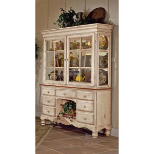 Wilshire Antique White Buffet and Hutch