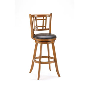 Fairfox Oak Swivel Bar Stool