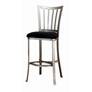 Delray Mission Pewter Non-Swivel Barstool
