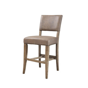 Charleston Desert Tan Non-Swivel Stools, Set of Two