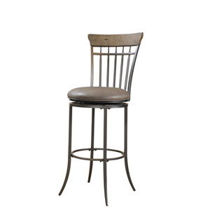 Charleston Desert Tan Vertical Spindle Back Counter Stool