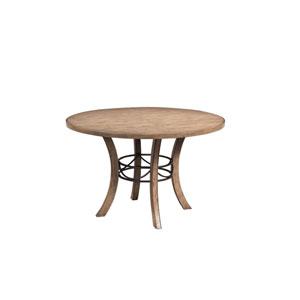 Charleston Desert Tan Wood Table with Metal Ring