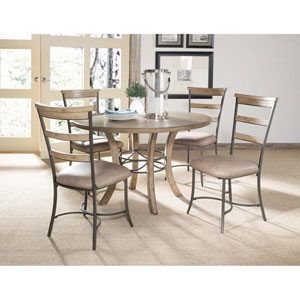 Charleston Desert Tan Five-Piece Wood Base Dining Set w/Ladder Back Chairs