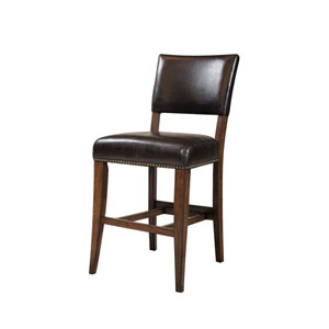 Cameron Chestnut Brown Non-Swivel Stools , Set of Two