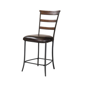 Cameron Chestnut Brown Ladder Non-Swivel Stools , Set of Two