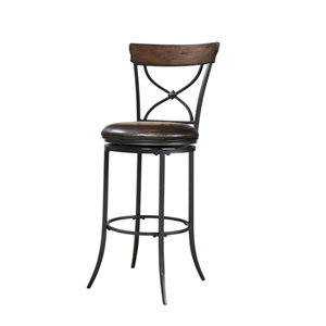 Cameron Chestnut Brown Swivel X-Back Bar Stool
